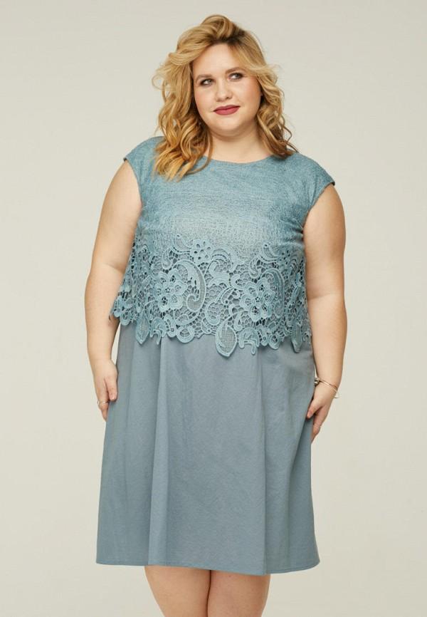 женское платье миди gorda bella, бирюзовое