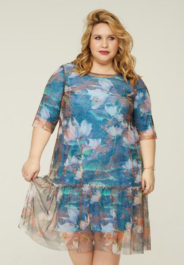 женское платье gorda bella, голубое