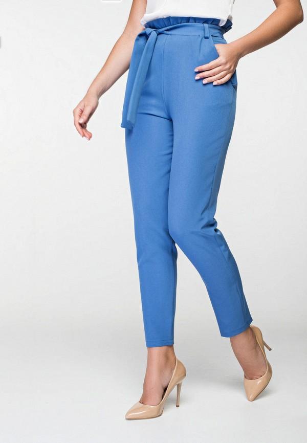 женские классические брюки itelle, голубые