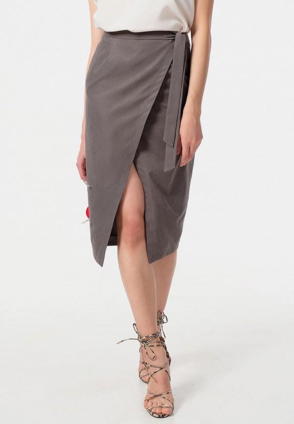 женская прямые юбка fly, серая