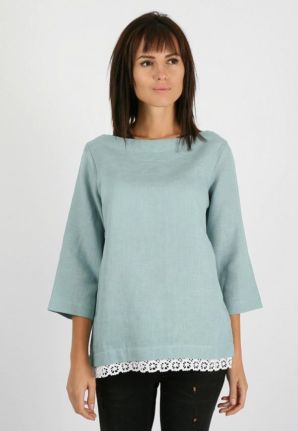 женская блузка morandi, бирюзовая