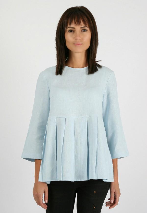 женская блузка morandi, голубая