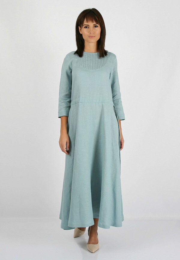 женское повседневные платье morandi, бирюзовое