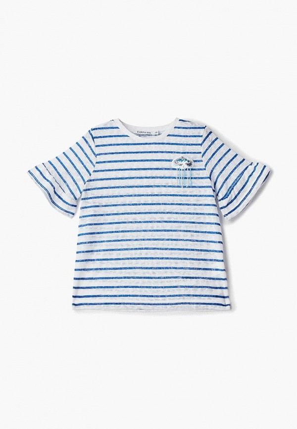 женская футболка с коротким рукавом zarina, синяя