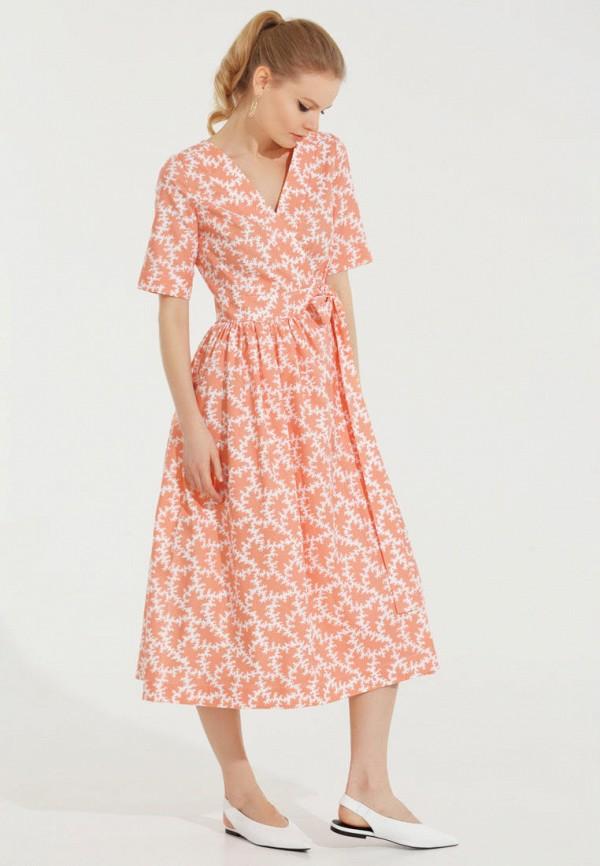 Фото 4 - Женское платье Victoria Kuksina кораллового цвета