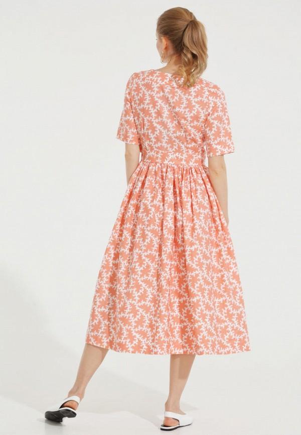 Фото 3 - Женское платье Victoria Kuksina кораллового цвета