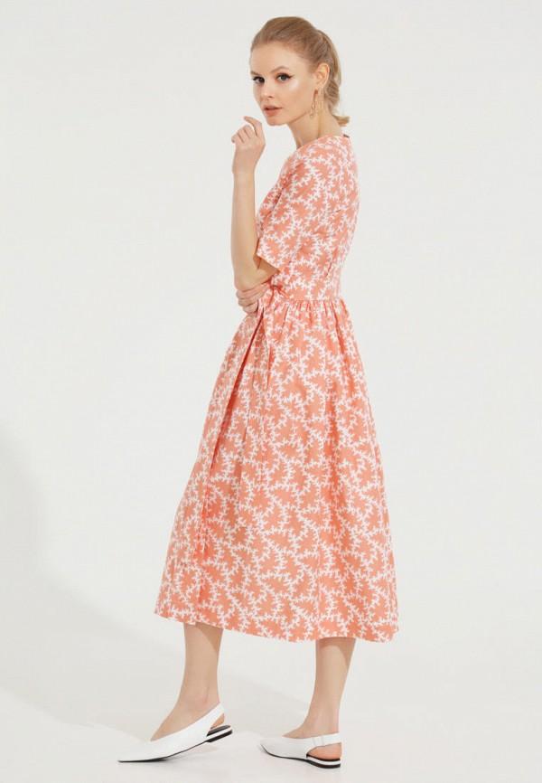Фото 5 - Женское платье Victoria Kuksina кораллового цвета