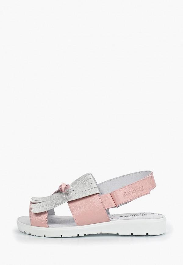 женские босоножки shoiberg, розовые