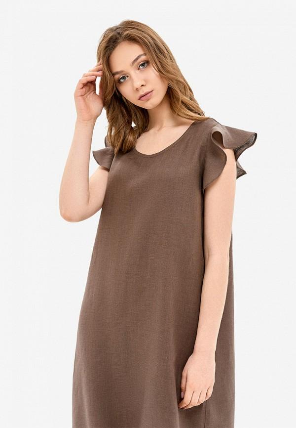 женские сорочка ночная morandi, коричневые