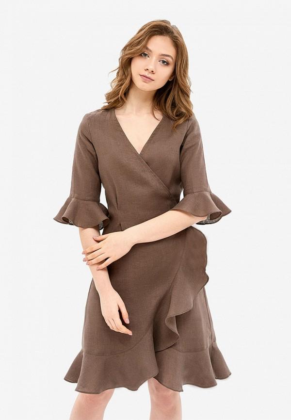 женский халат morandi, коричневый