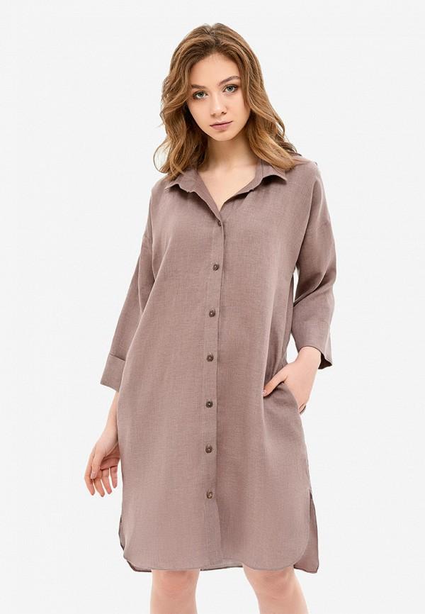 женское платье morandi, коричневое