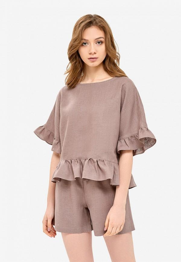 женская пижама morandi, коричневая