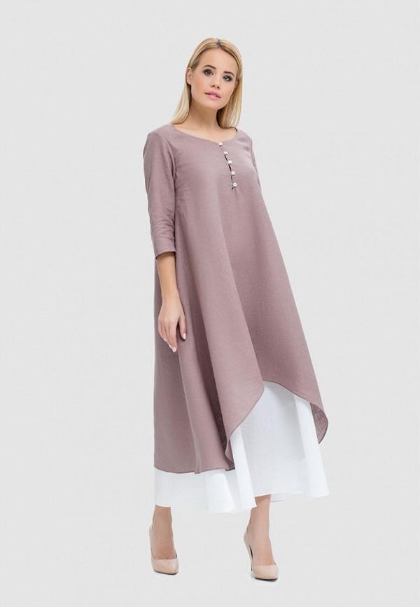 женское повседневные платье morandi, коричневое