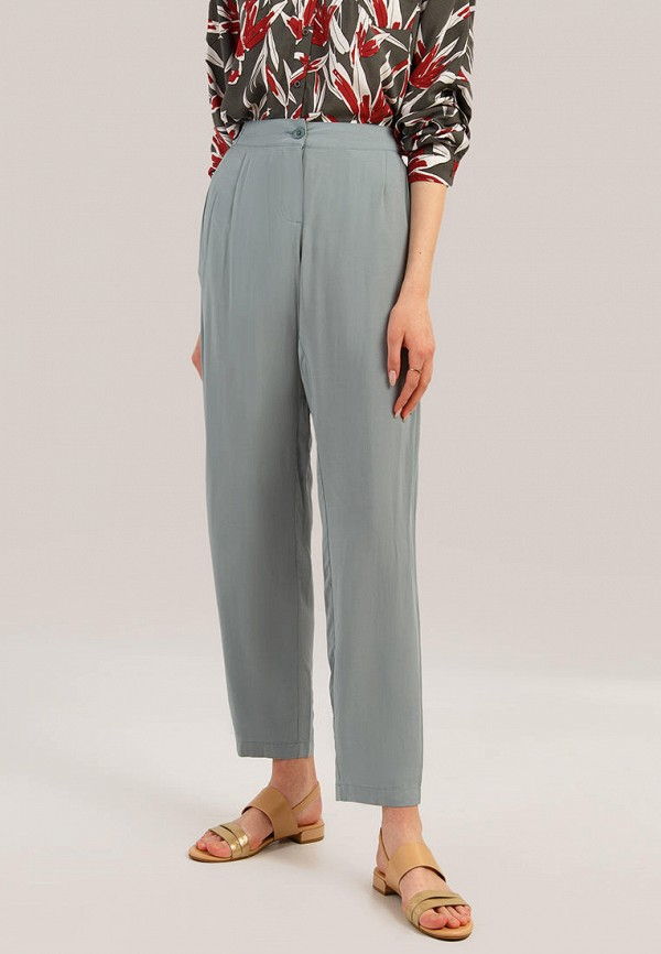 женские прямые брюки finn flare, бирюзовые