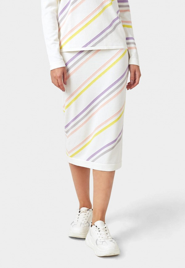 женская прямые юбка pompa, белая