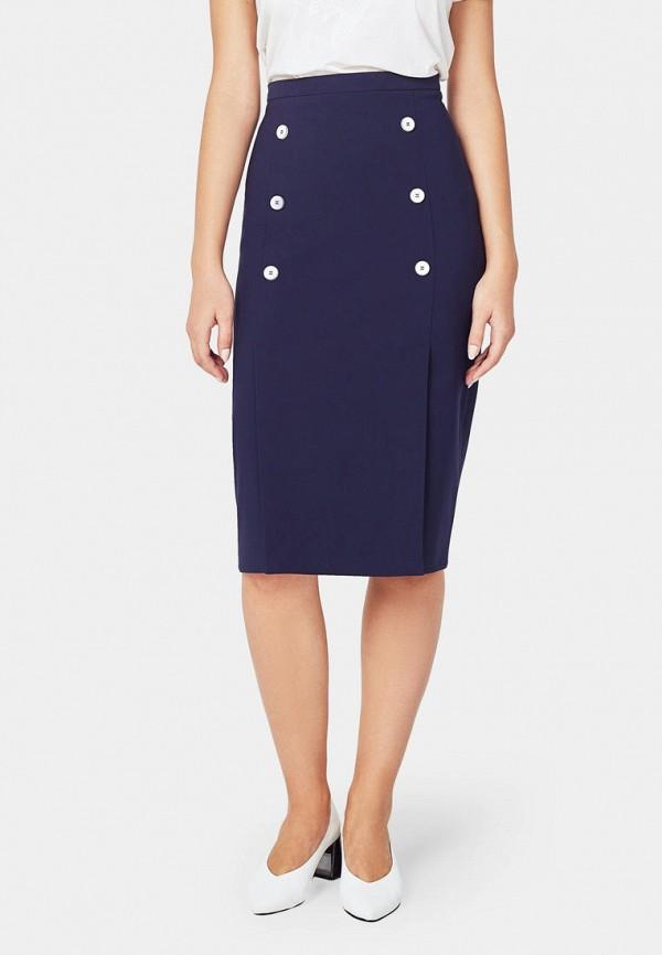 женская прямые юбка pompa, синяя