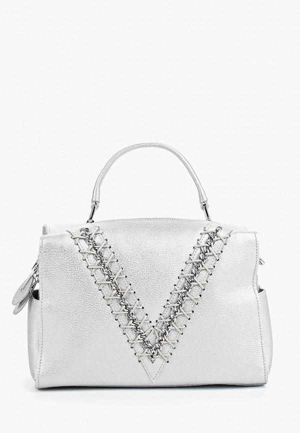 женская сумка labella vita, серебряная