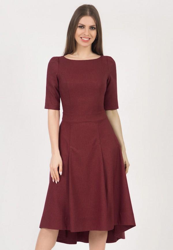 женское платье миди olivegrey, бордовое