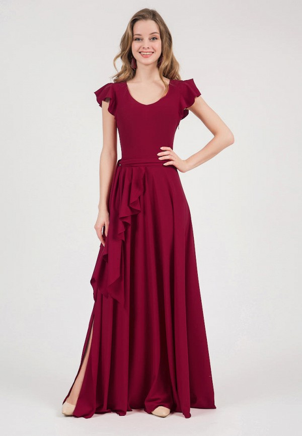 женское вечерние платье marichuell, бордовое