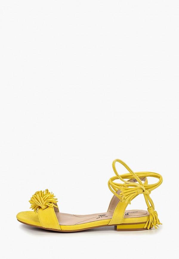 женские сандалии pierre cardin, желтые