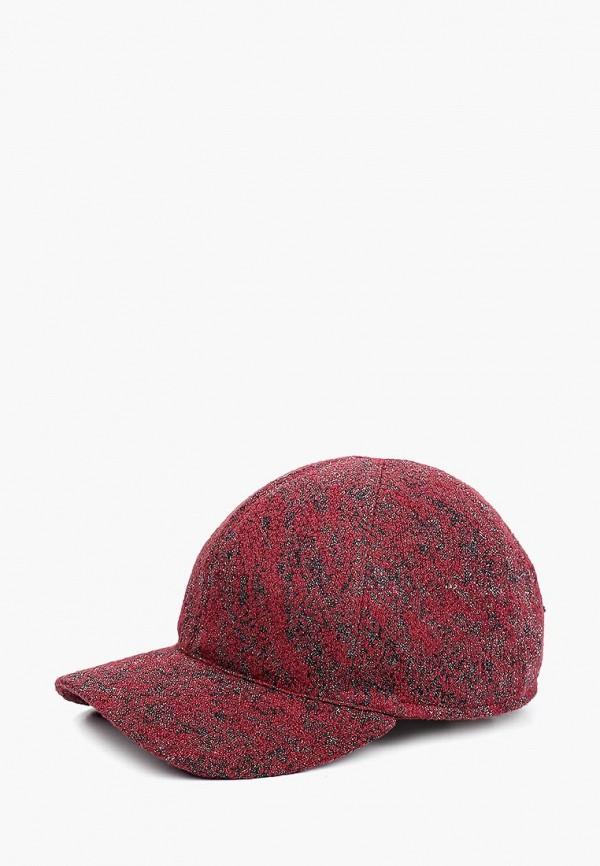 женская бейсболка forti knitwear, бордовая