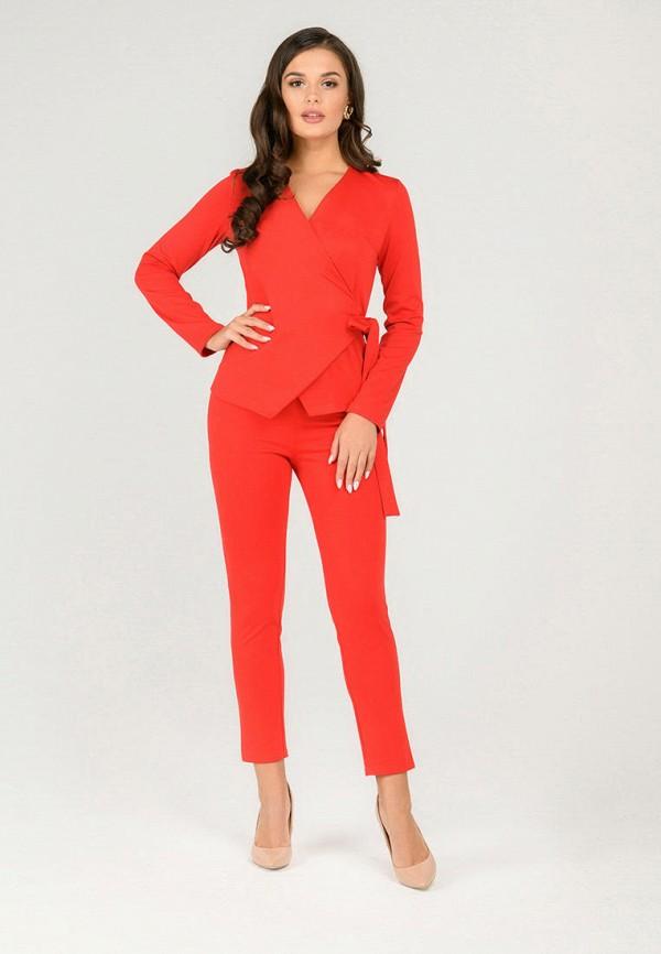 женский костюм d&m by 1001 dress, красный