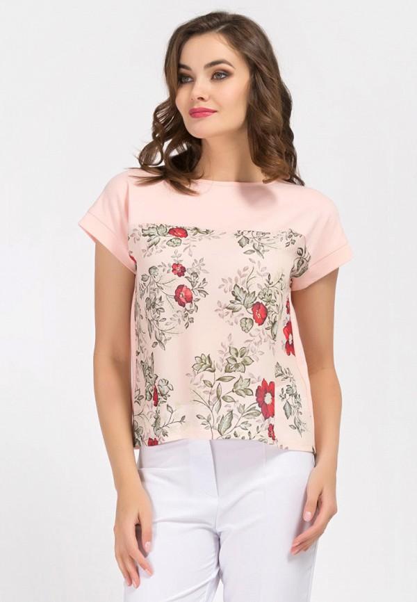 женская блузка remix, розовая