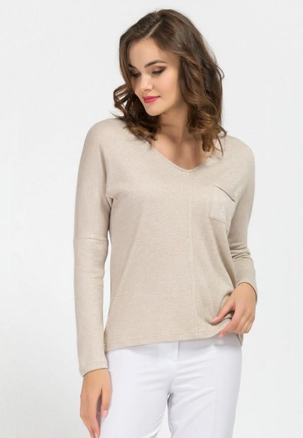 женский пуловер remix, бежевый