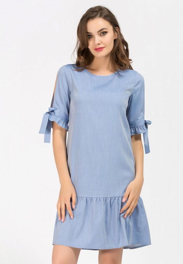 женское повседневные платье remix, голубое