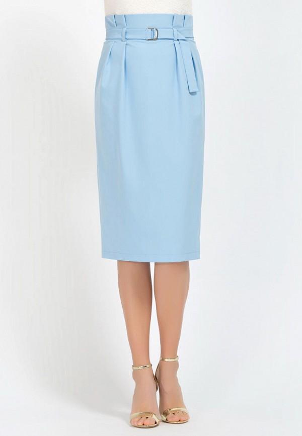 женская прямые юбка remix, голубая