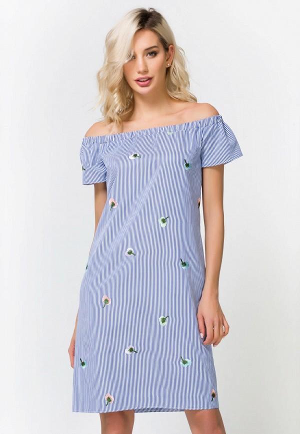 женское платье remix, голубое