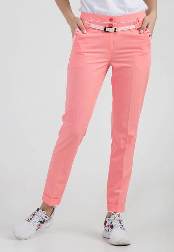 женские классические брюки das, розовые