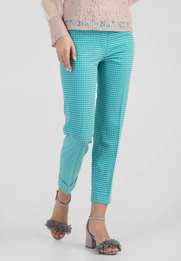 женские повседневные брюки das, бирюзовые