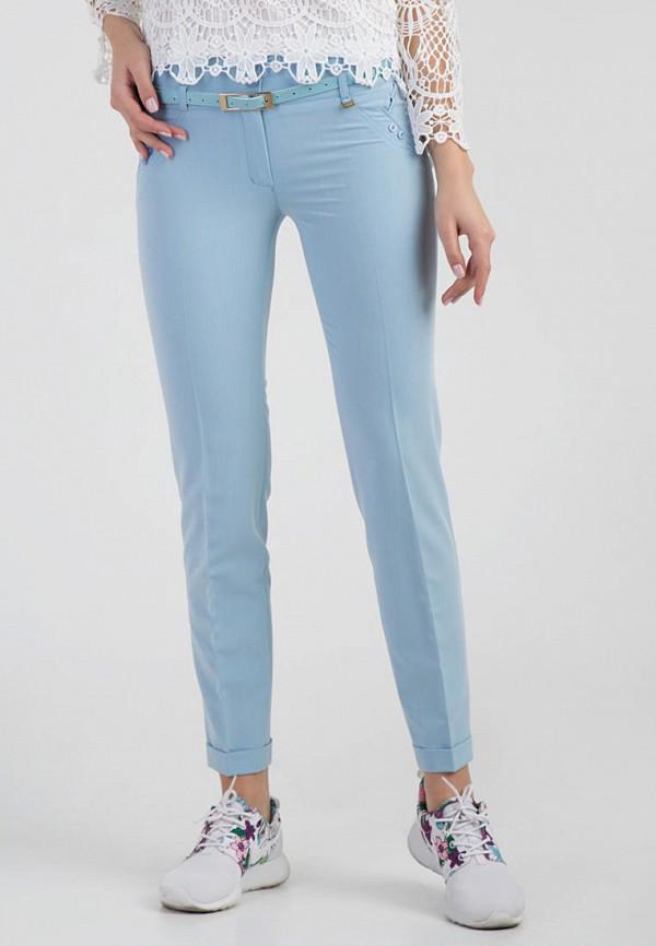 женские классические брюки das, голубые