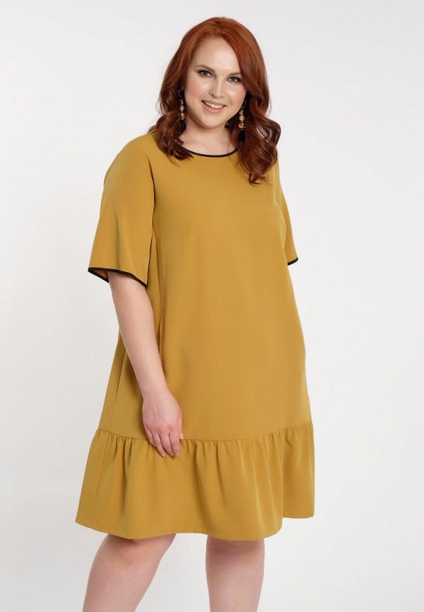женское платье миди dora, желтое