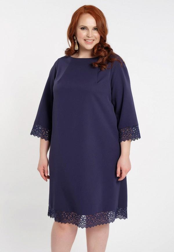 женское платье миди dora, синее