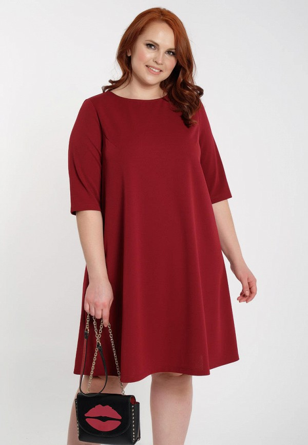 женское платье миди dora, красное