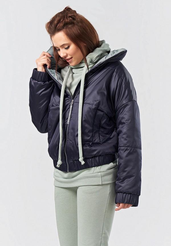 женская утепленные куртка fly, синяя