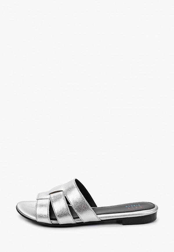 женское сабо ralf ringer, серебряное