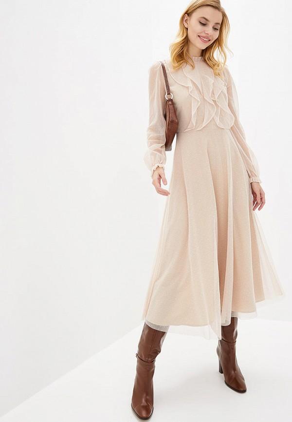 женское повседневные платье arefeva, бежевое