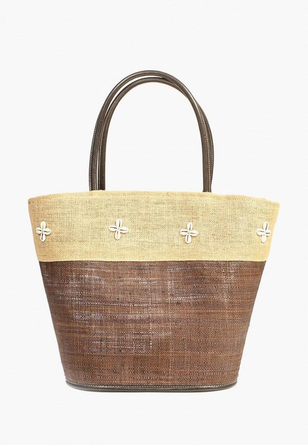 женская сумка le comptoir de la plage, коричневая