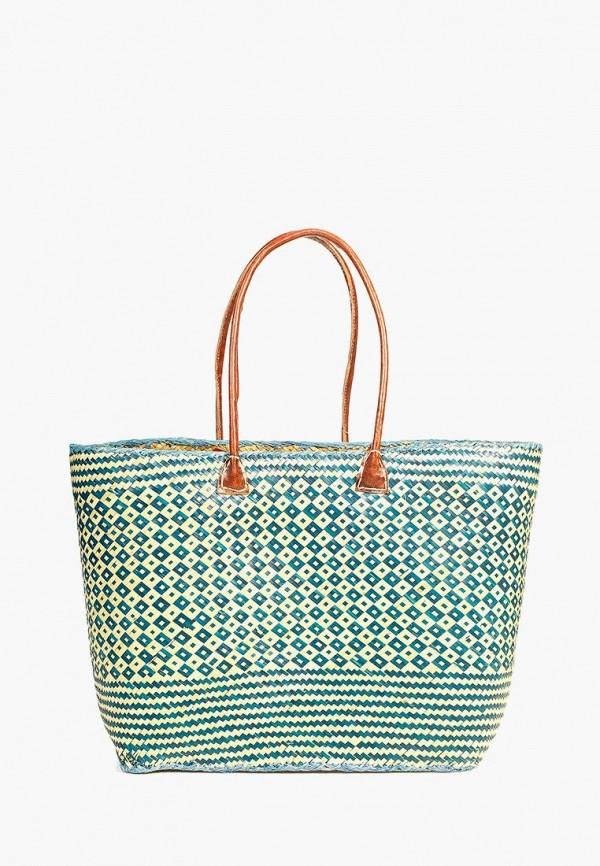 женская сумка le comptoir de la plage, бирюзовая