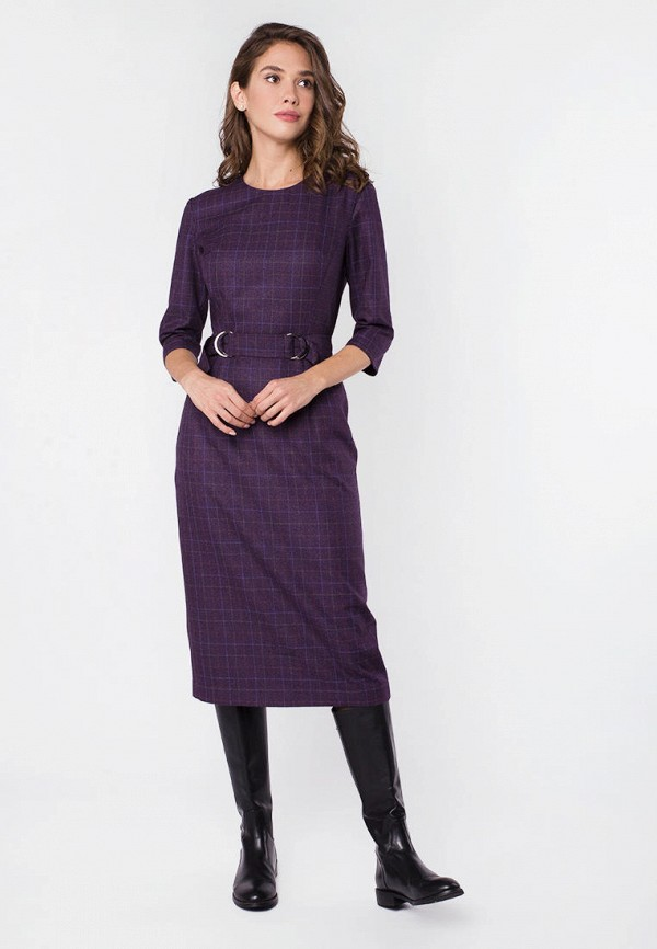 женское платье-футляр mr520, фиолетовое