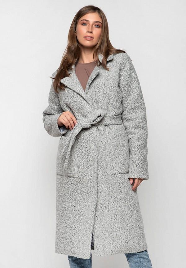 женское пальто modniy oazis, серое