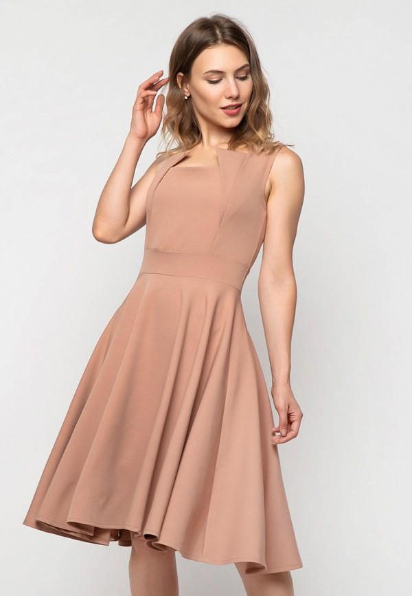 женское повседневные платье modniy oazis, бежевое