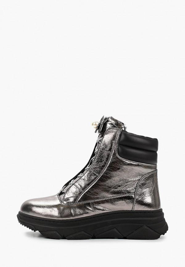 женские высокие ботинки king boots, серебряные