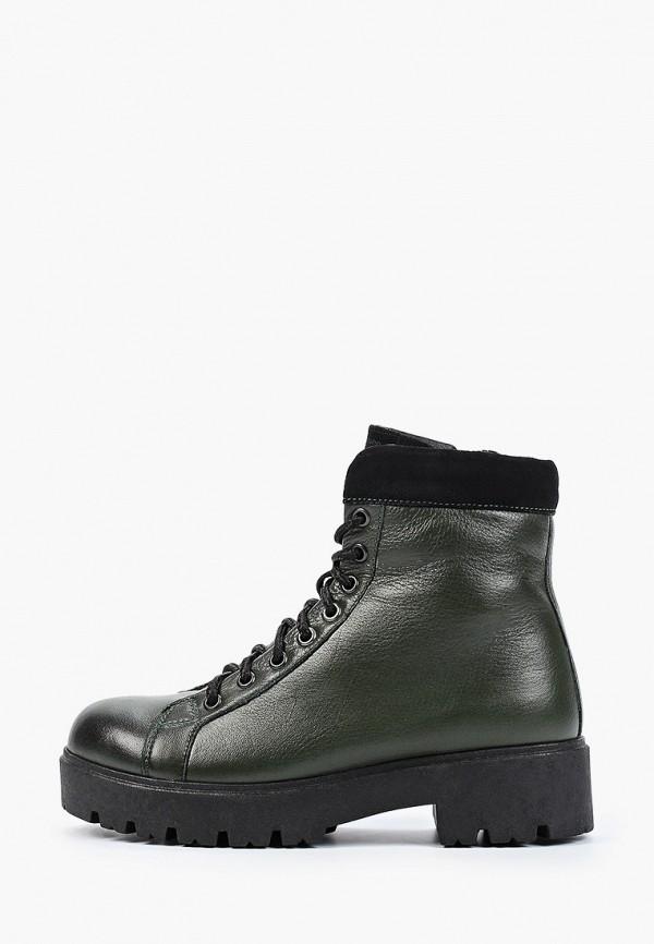 женские высокие ботинки shoiberg, зеленые