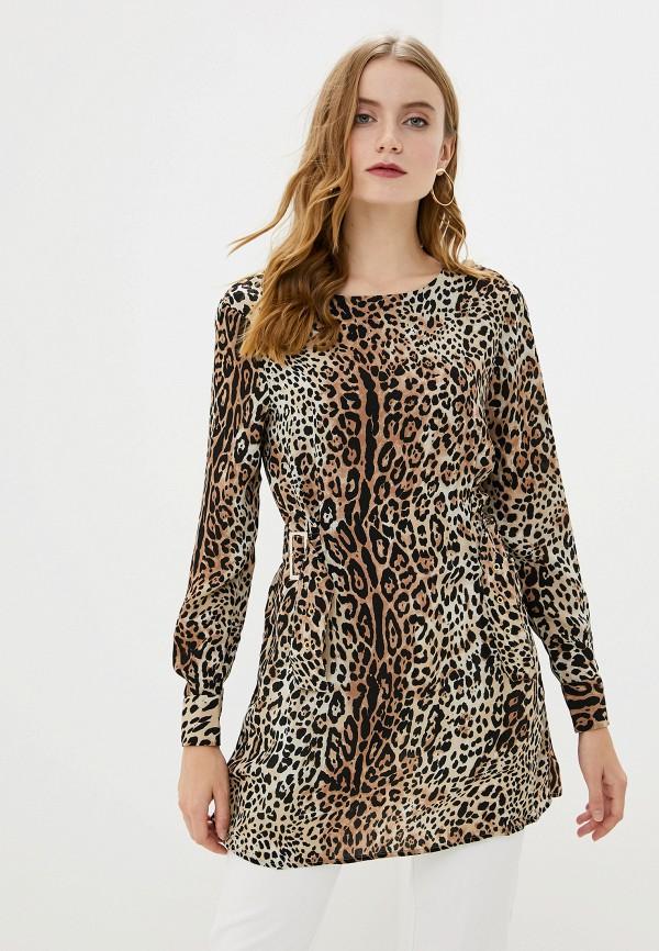 женская блузка с длинным рукавом francesco donni, разноцветная
