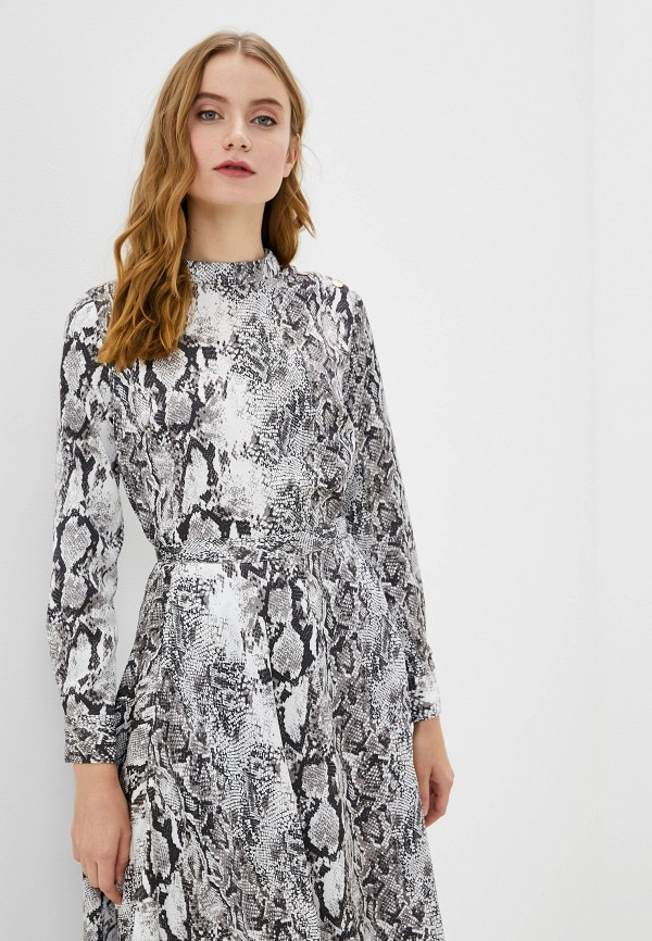 женская блузка с длинным рукавом francesco donni, серая