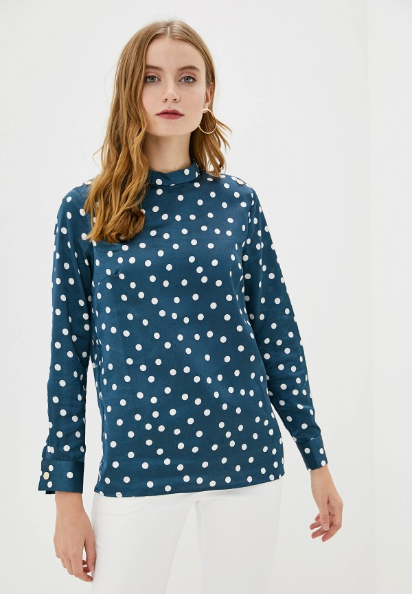 женская блузка с длинным рукавом francesco donni, бирюзовая